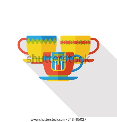 amusement park coffee-cup flat icon