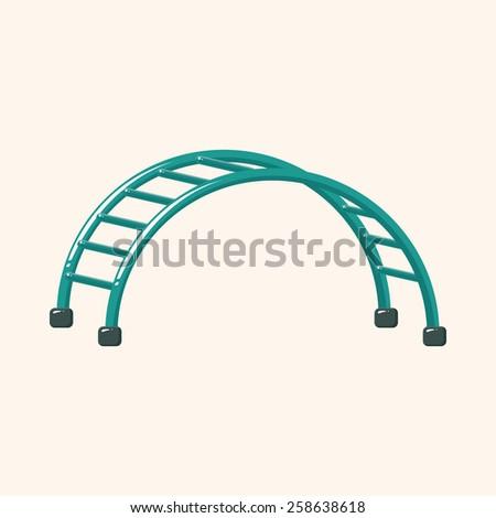 Amusement park facilities theme elements - stock vector