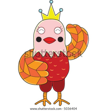 An a vector illustration of a chicken.