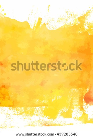 An abstract artistic bright yellow watercolor background texture; scalable vector graphic - stock vector