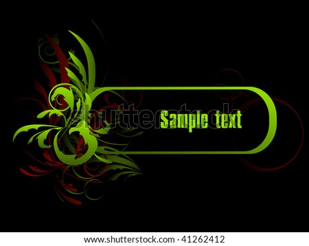 An abstract pattern for design with space for a text. - stock vector