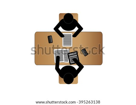 An accountant is in a difficult work environment. working concept - stock vector