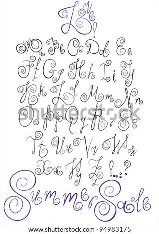 An Alphabet from my big font collection - stock vector