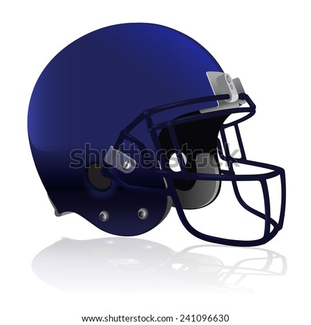 An American Football helmet isolated on a white background. Vector EPS 10. EPS file contains transparencies