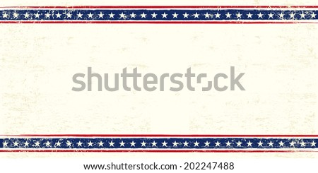 An american postcard for you with a large empty space for your text - stock vector