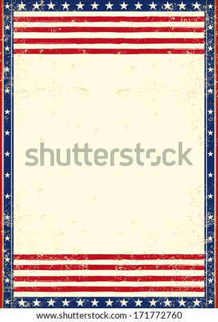 An american vintage flag with a texture - stock vector