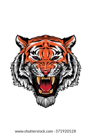 Tiger roar vector - photo#9
