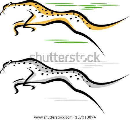 Running cheetah vector - photo#4