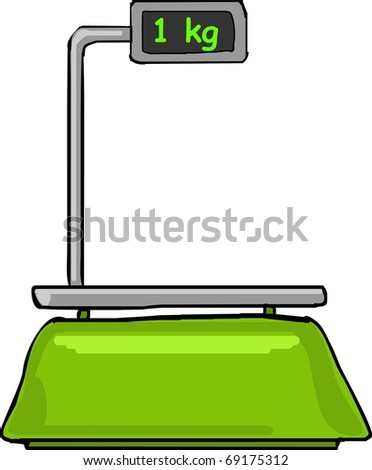 an electronic scale - stock vector