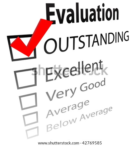 Evaluation Job Performance Grade Report Card Stock Vector