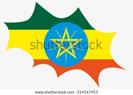 An Explosion wit the flag of Ethiopia