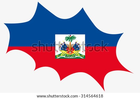 An Explosion wit the flag of Haiti