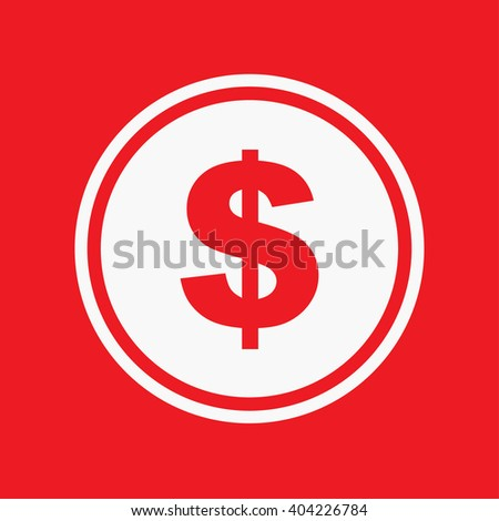 An Icon Illustration Isolated on a Background - Dollar