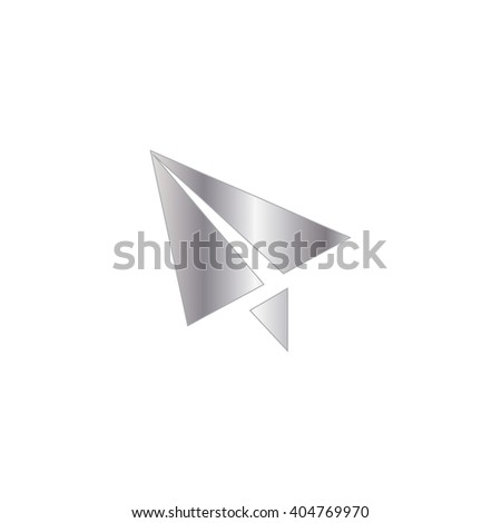 An Icon Illustration Isolated on a Background - Paper Airplane