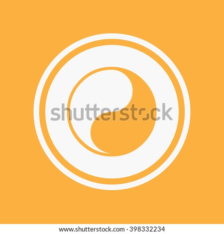 An Icon Illustration Isolated on a Background - Yin Yang - stock vector