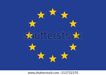 An Illustrated Flag of European Union - stock vector