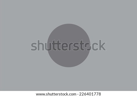 An Illustrated grayscale flag of the country of Bangladesh - stock vector