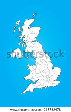 An Illustrated Map of the United Kingdom - stock vector
