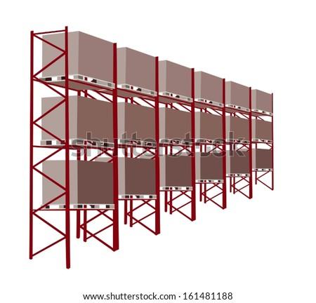 Warehouse Racking Stock Vectors Amp Vector Clip Art