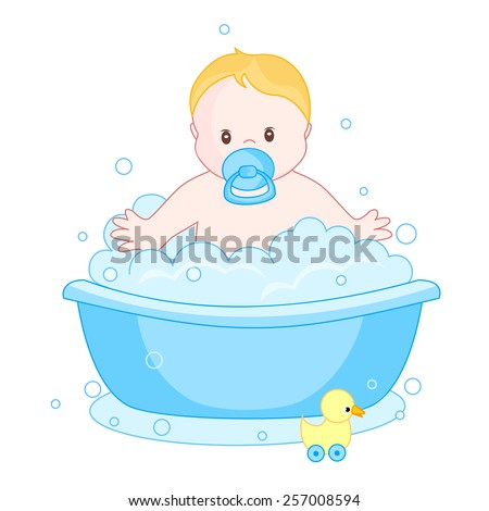 An illustration of a cute little baby boy having bath isolated on white  background  child. Happy Baby Girl Baby Boy Bath Stock Vector 551599195   Shutterstock