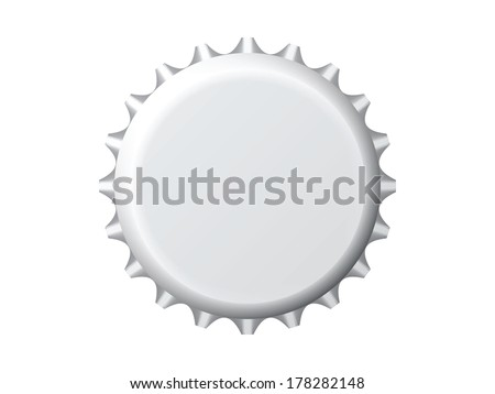 An illustration of a nice bottle cap - stock vector