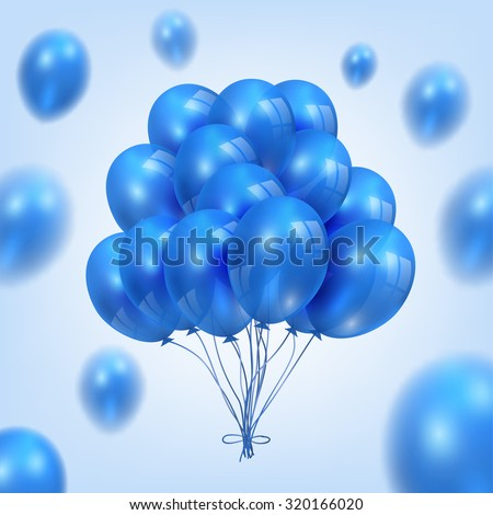 An illustration of a set of colorful birthday or party balloons - stock vector