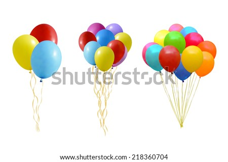 An illustration of a set of colourful balloons  - stock vector