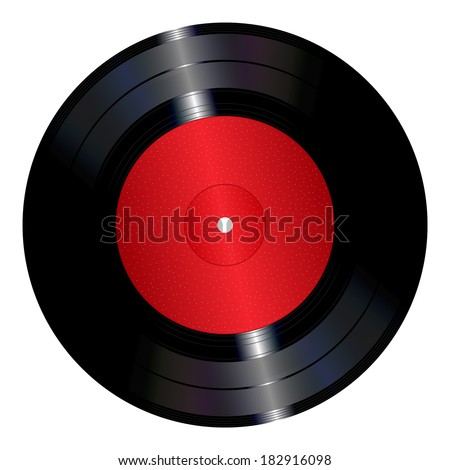 An illustration of a vinyl record. - stock vector