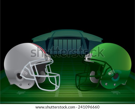 An illustration of an American Football Championship. Vector EPS 10. EPS file contains transparencies and gradient mesh. - stock vector