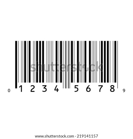 An Illustration of an Isolated Bar code