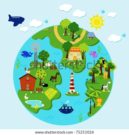an illustration of earth - stock vector