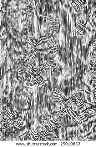 an illustration of  texture of wood drawn by hand - stock vector