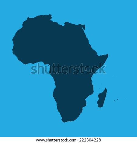 An Illustration of the continents of the world on white background - Africa - stock vector