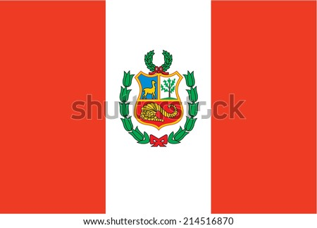An Illustration of the flag of Peru - stock vector