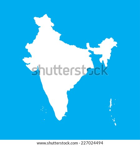 An Illustration on an Blue background of India - stock vector