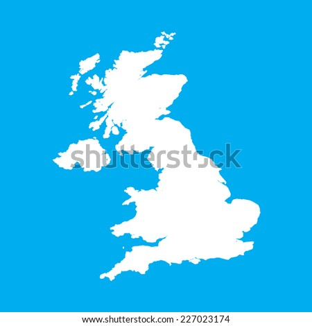 An Illustration on an Blue background of United Kingdom