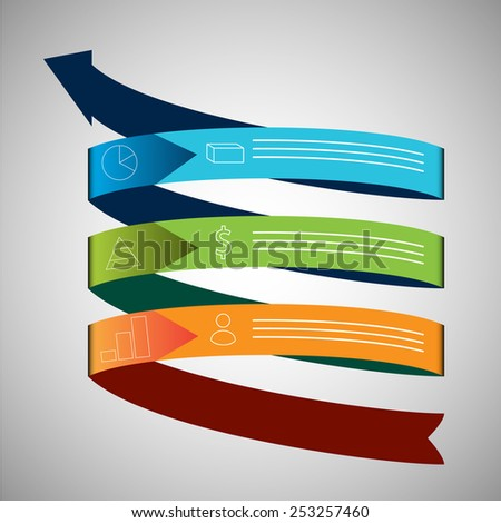 An image of a business growth arrow chart icon. - stock vector