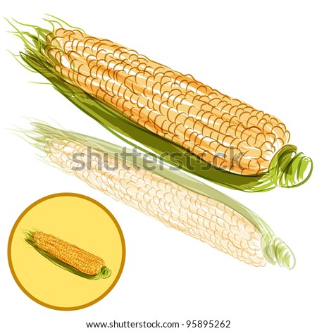 Image Ear Corn Cartoon Character Stock Vector 292089236 - Shutterstock