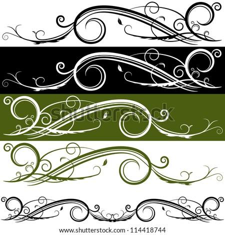 An image of a flourish banner. - stock vector