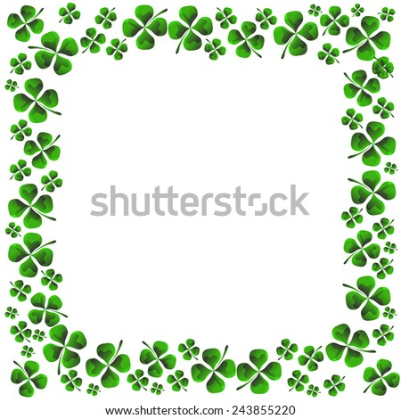 An image of a four leaf clover pattern. - stock vector
