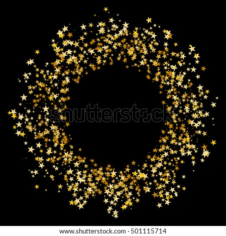 An image of a Gold Star Glitter Confetti Circle.