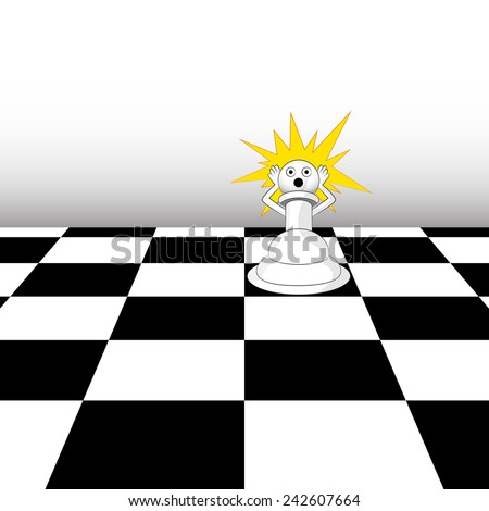 An image of a pawn in a chess game. - stock vector