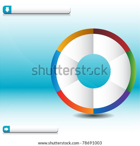 An image of a process wheel wave chart. - stock vector