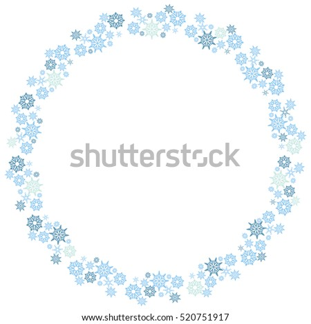 An image of a small snowflake circle wreath pattern.