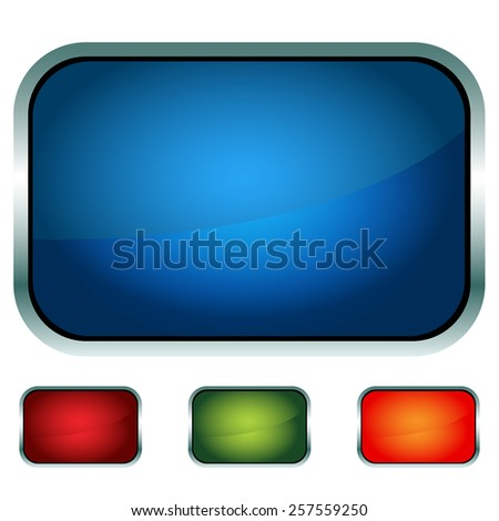 An image of a technology button icon set. - stock vector