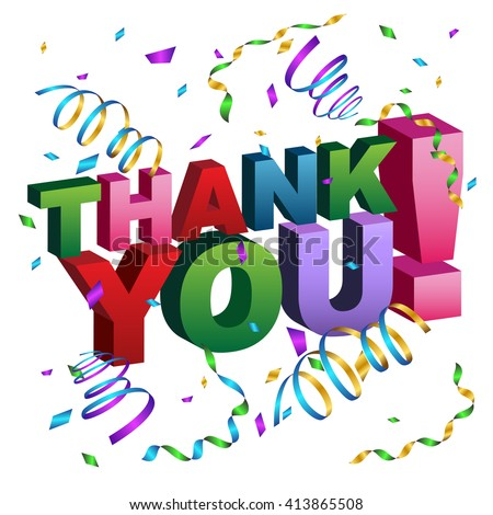 An image of a thank you Message. - stock vector
