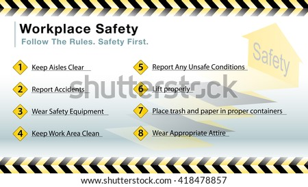 An image of a workplace safety slide.