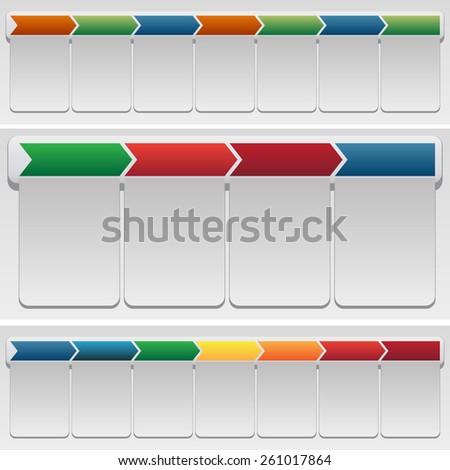 An image of chevron chart set. - stock vector