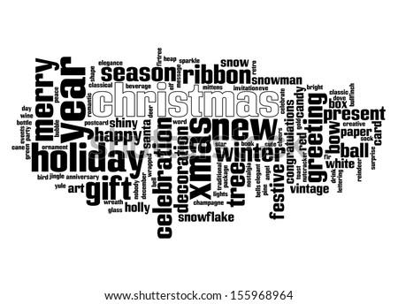 An image of nice Christmas text cloud - stock vector
