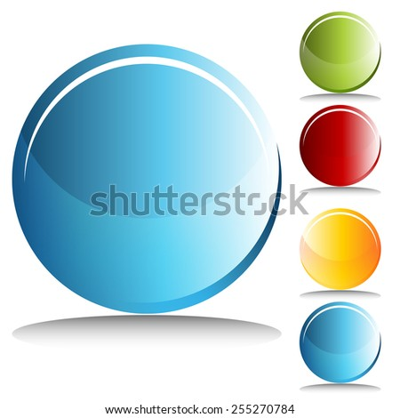 An image of round buttons. - stock vector